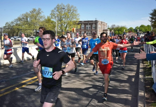 The final quarter mile!! Photo credit: The Broad Street Run