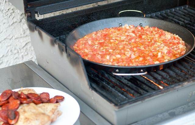 Sauting the Tomato Mixture