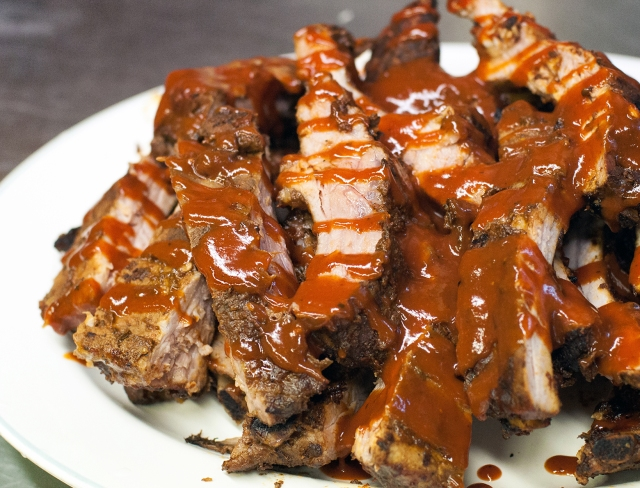 BBQ Baby Back Ribs close