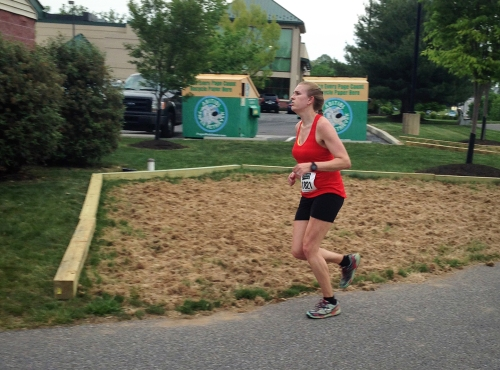 Rocky Run 5K - this face exactly sums up how I was feeling at the finish!