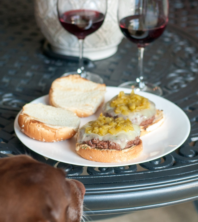 Make sure your puppy doesn't eat your burger!