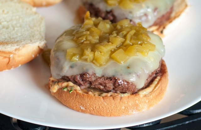 Southwestern Burgers with Chipotle Mayo close up