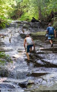 Scaling a waterfall