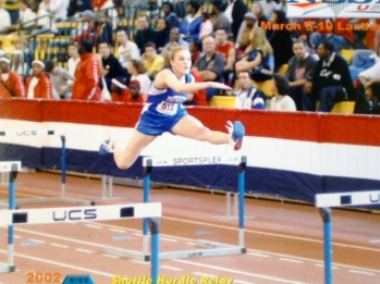 High school hurdles. Luckily there are no photos of my super slow high school mile!!!