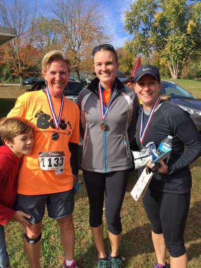 Top female Boo Run finishers. (Photo Credit: TCLR)