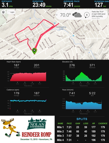 Reindeer Romp 5K Stats_
