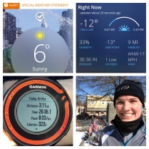 3.1 miles in chilly temps! (February, Streak Day 600)