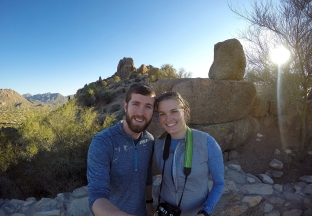 Matt and Annie at Pinnacle Peak