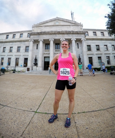 Post-Race in front of the Delco Courthouse