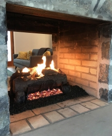 Our new propane-powered fireplace made surviving the cold weather even easier