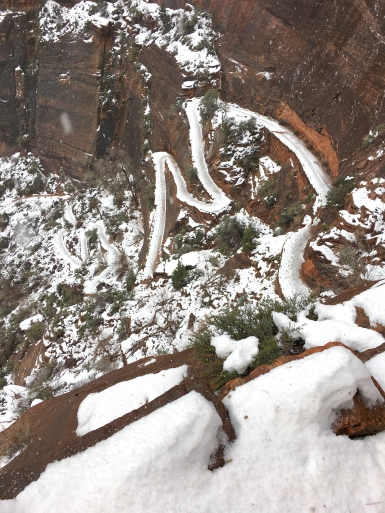 Switchbacks on the West Rim Trail