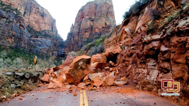 January 2017 Rockslide in Zion NP (article / source)
