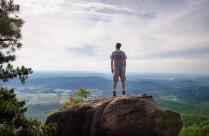 011 Matt on Old Rag Mountain - notice the flying ants!
