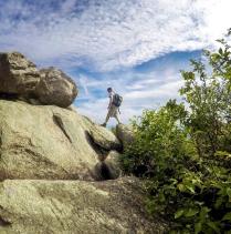 Strolling on boulders