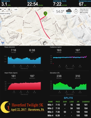Haverford Twilight 5K Stats 17_