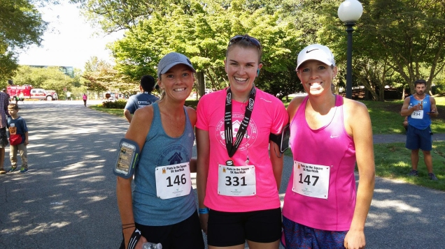 Top 3 women across the finish line! (Photo: The Running Place)