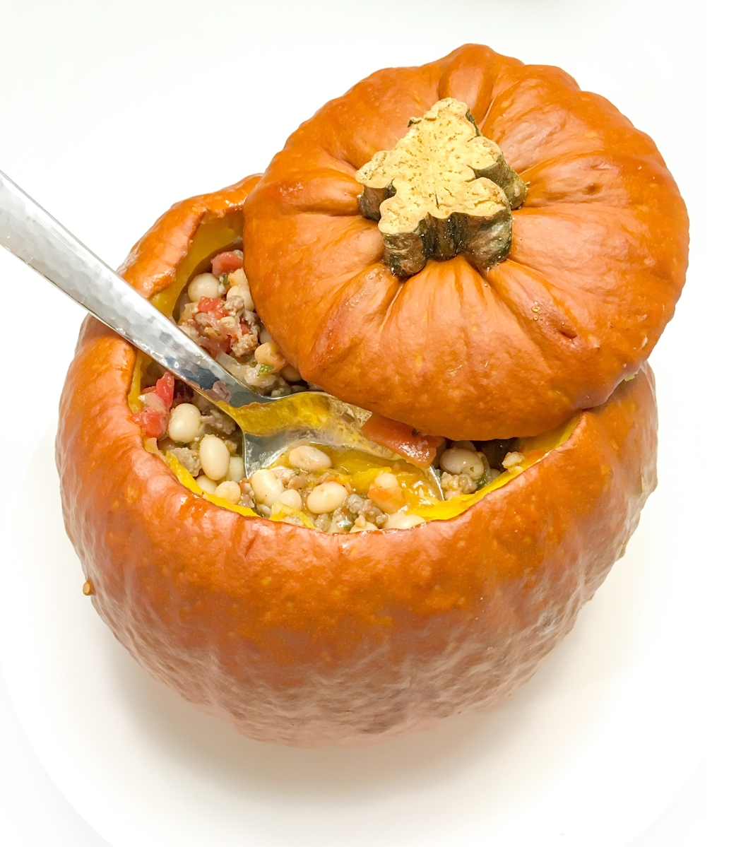 Pumpkin Stew baked IN the Pumpkin!
