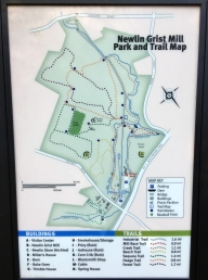 Newlin Grist Mill Trail Map