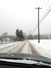 Our drive home on Friday.