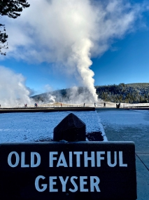 Old Faithful Geyser pre-eruption